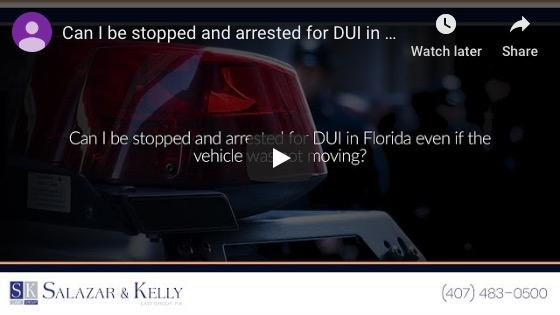 ¿Puedo ser detenido y arrestado por DUI en Florida incluso si el vehículo no se movía?