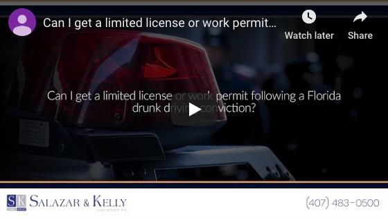 ¿Puedo obtener una licencia limitada o un permiso de trabajo después de una condena por conducir ebrio en Florida?